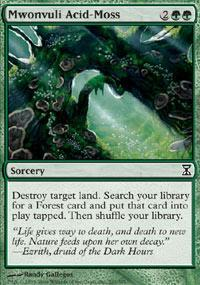 Mwonvuli Acid-Moss Magic Card