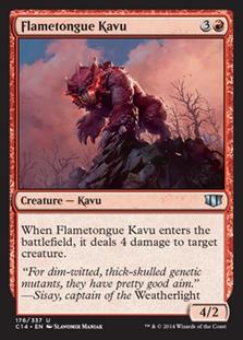 Flametongue Kavu Magic Card