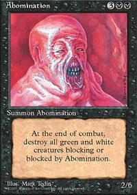 Abomination Magic Card