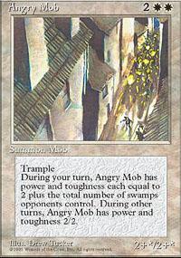 Angry Mob Magic Card