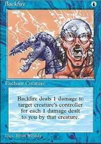 Backfire Magic Card
