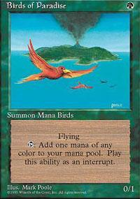 Birds of Paradise Magic Card