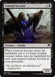 Undead Servant Magic Card