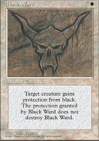 Black Ward Magic Card