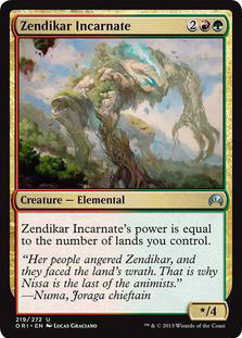 Zendikar Incarnate Magic Card