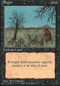 Blight Magic Card