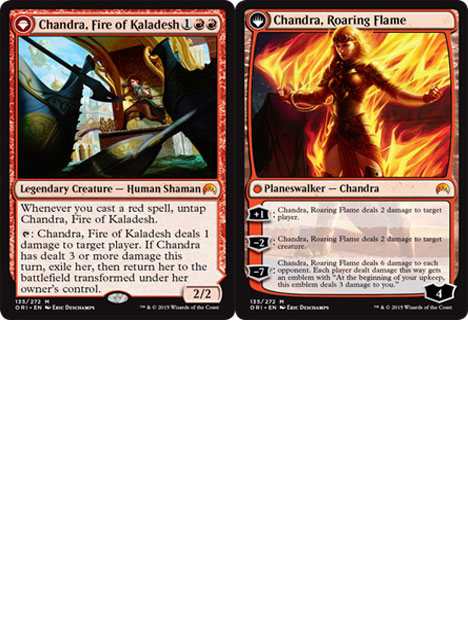 Chandra, Fire of Kaladesh // Chandra, Roaring Flame Magic Card