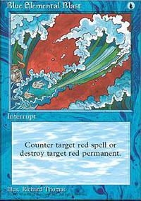 Blue Elemental Blast Magic Card