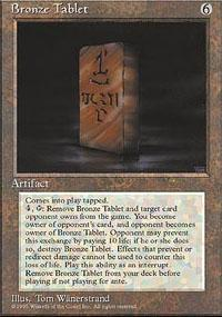Bronze Tablet Magic Card