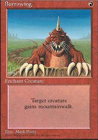 Burrowing Magic Card