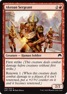 Akroan Sergeant Magic Card