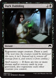 Dark Dabbling Magic Card
