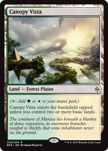 Canopy Vista Magic Card