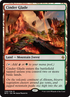 Cinder Glade Magic Card