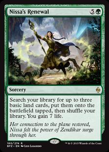 Nissa's Renewal Magic Card