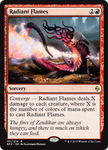 Radiant Flames Magic Card