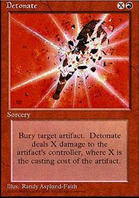 Detonate Magic Card