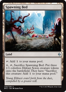 Spawning Bed Magic Card