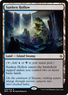 Sunken Hollow Magic Card