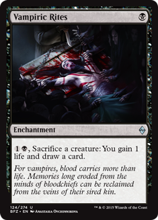Vampiric Rites Magic Card