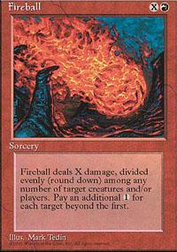 Fireball Magic Card