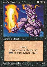Junun Efreet Magic Card