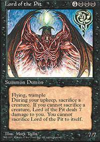 Lord of the Pit Magic Card