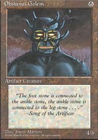 Obsianus Golem Magic Card