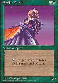 Radjan Spirit Magic Card