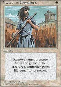 Swords to Plowshares Magic Card