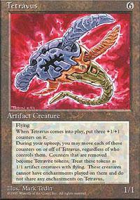 Tetravus Magic Card