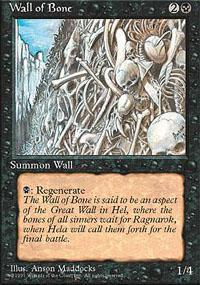 Wall of Bone Magic Card