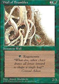Wall of Brambles Magic Card