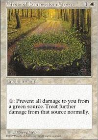 Circle of Protection: Green Magic Card