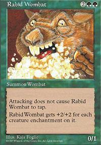 Rabid Wombat Magic Card