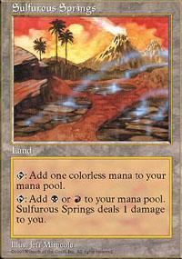 Sulfurous Springs Magic Card