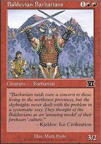 Balduvian Barbarians Magic Card