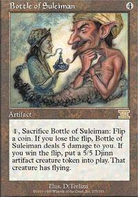 Bottle of Suleiman Magic Card