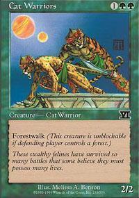 Cat Warriors Magic Card
