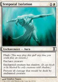 Temporal Isolation Magic Card