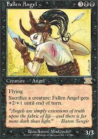 Fallen Angel Magic Card