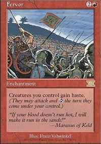 Fervor Magic Card