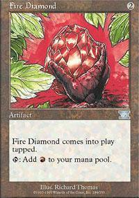 Fire Diamond Magic Card