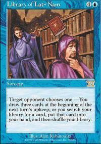Library of Lat-Nam Magic Card
