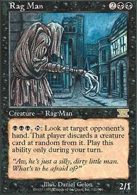 Rag Man Magic Card