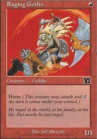 Raging Goblin Magic Card