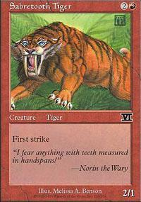 Sabretooth Tiger Magic Card