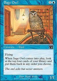 Sage Owl Magic Card