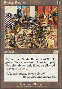 Snake Basket Magic Card
