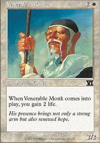 Venerable Monk Magic Card